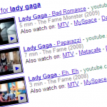 Lady Gaga Video Search 150x150 Rapid Video Marketing... 1st Page on Google